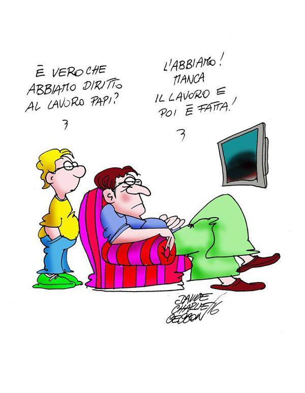 ITALIAN COMICS - Articolo 1 della Costituzione: l'Italia è una Repubblica democratica, fondata sul lavoro.