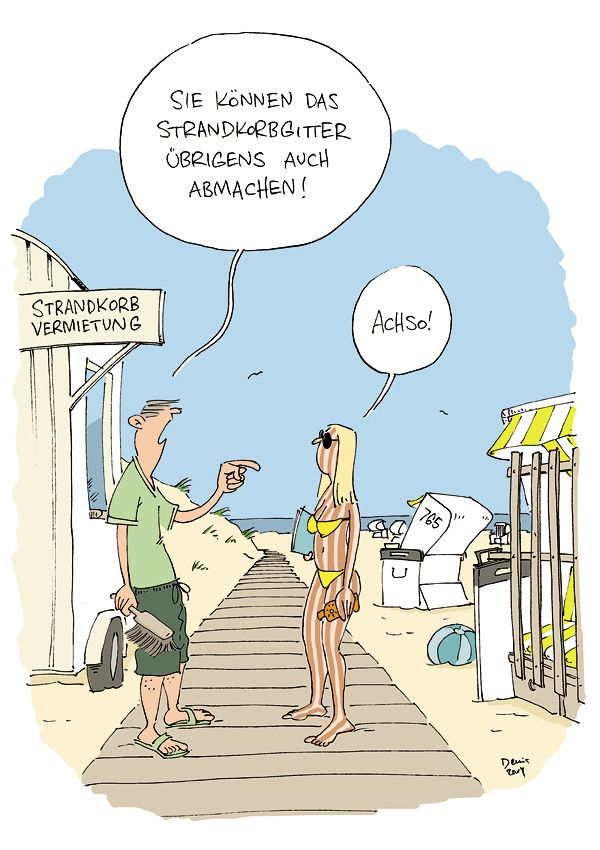 Strandkorb comic  strandkorbgitter | Cartoon | Pinterest | Cartoon