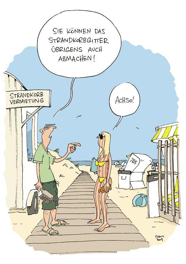 Strandkorb comic  strandkorbgitter | Cartoon | Pinterest | Cartoon