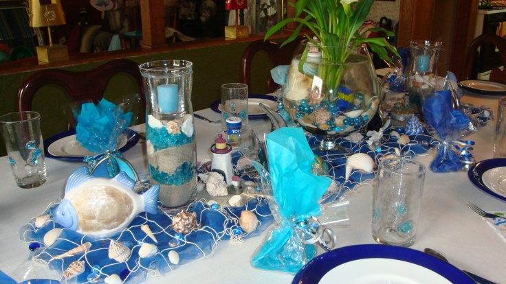 "Tablescape for my girlfriends ""Cape Cod"" themed party"