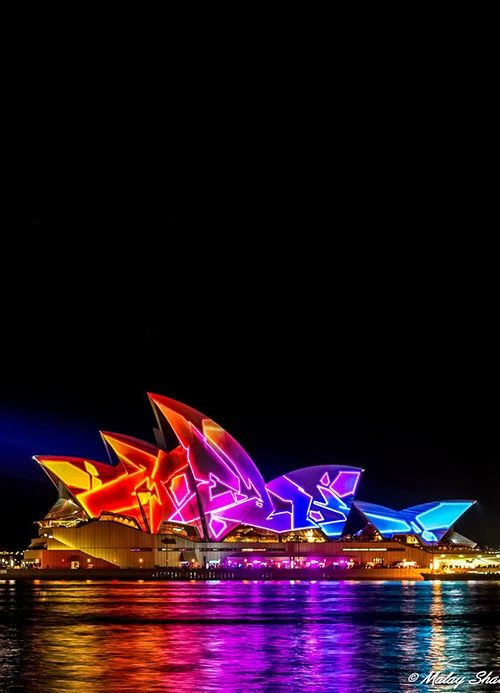 Loved to watch the Sydney Opera House at night. It is always illuminated with different amazing designs and pictures.