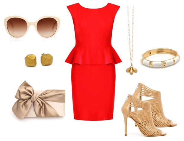What to Wear with a Peplum Dress