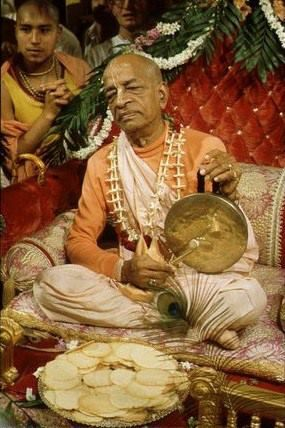 """Chant Hare Krishna and your life will be sublime!"" His Divine Grace A.C Bhaktivedanta Swami Prabhupada"