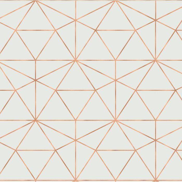 Graphic Quartz 24 L X 25 W Peel And Stick Wallpaper Roll Gold Geometric Wallpaper Geometric Wallpaper Peel And Stick Wallpaper