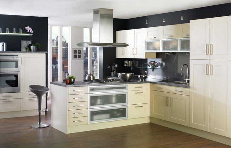 Elegant-White-kitchen-furniture-set-in-Wonderful-scandinavian-style-T-shaped-kitchen-design-with-stainless-steel-kitchen-exhaust-fan-fetching-Scandinavian-style-kitchen-housewife