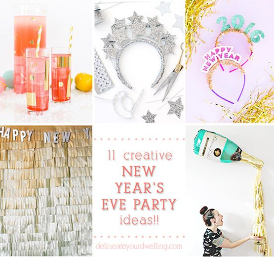 New Year's Eve party DIY Roundup