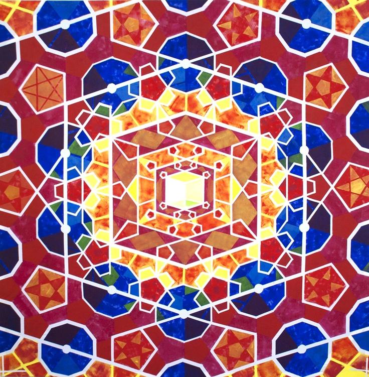Filip Konieczny, 5T8L, 210cm x 210cm, 2012 #art #painting #lasem #grupalasem #mandala