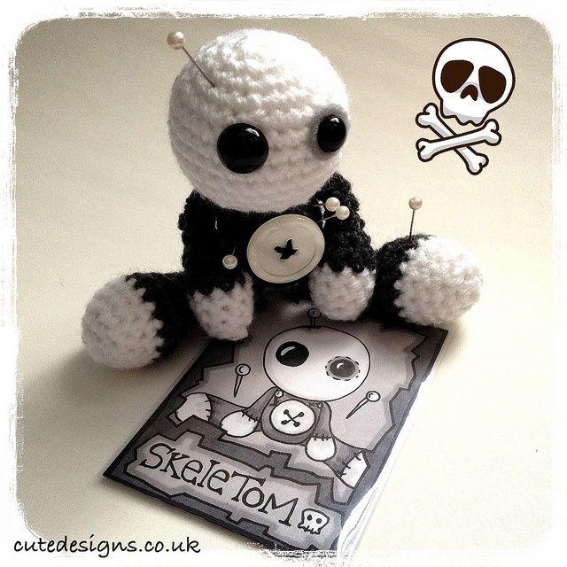 Introducing Amigurumi Voodoo Doll - SkeleTom by cutedesigns, via Flickr.