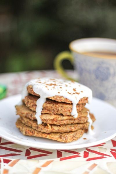 The healthy side of carrot cake -- Carrot cake protein pancakes