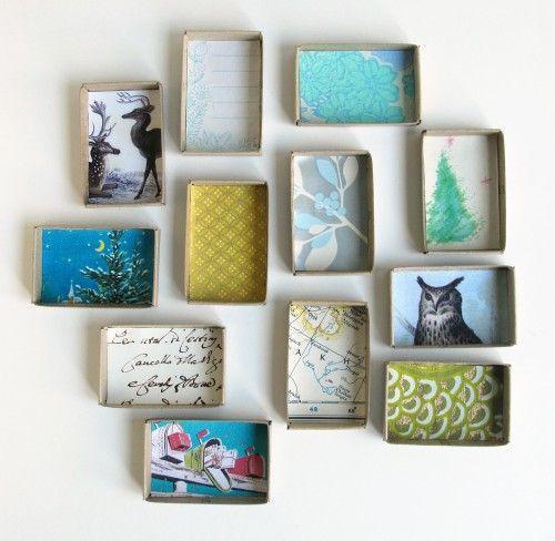 little advent boxes ~ inside {cori kindred} Créer des cadres pour des photo du sdg ou des dessins fait avec imprimerie