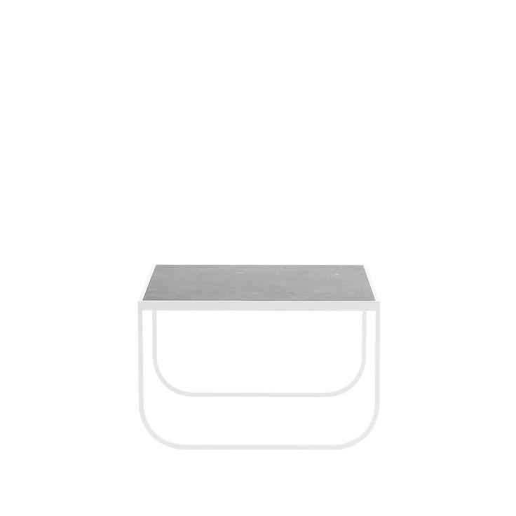 Tati Square soffbord - Tati Square soffbord - kalksten, white, 60x63 cm