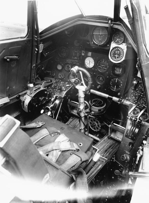 AIRCRAFT OF THE ROYAL AIR FORCE 1939-1945: HAWKER TEMPEST. Tempest Mark V protoype, HM595: cockpit interior, port front. Photograph taken at Hawker Aircraft Ltd, Langley, Berkshire