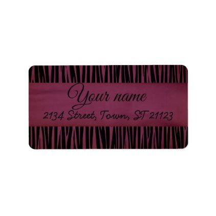 Elegant Customized Zebra Label - animal gift ideas animals and pets diy customize
