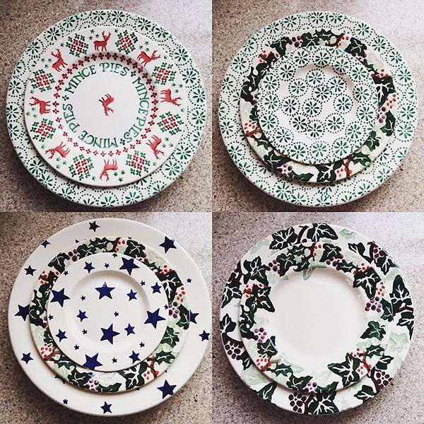 Green Daisy & Spot 6.5 inch Plate and 10.5 inch Plate (Christmas 2014 and Summer 2015) Discontinued