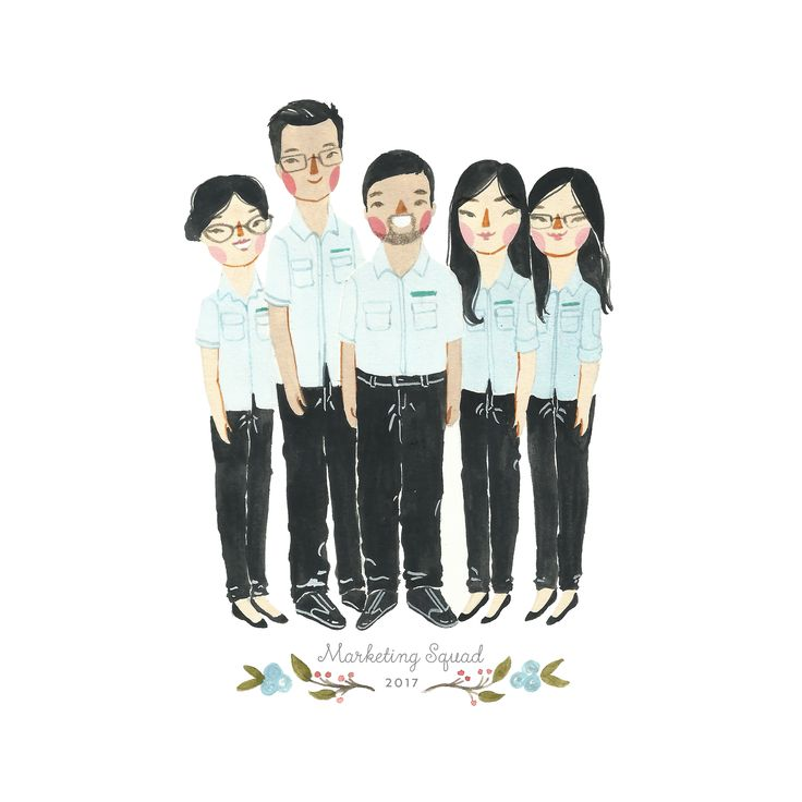 Work colleague custom illustration by Sasa Khalisa