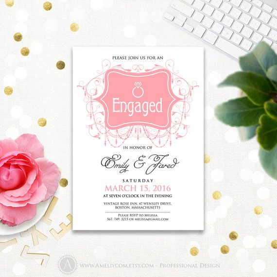 17 best ideas about Engagement Invitation Template – Engagement Invitation Templates