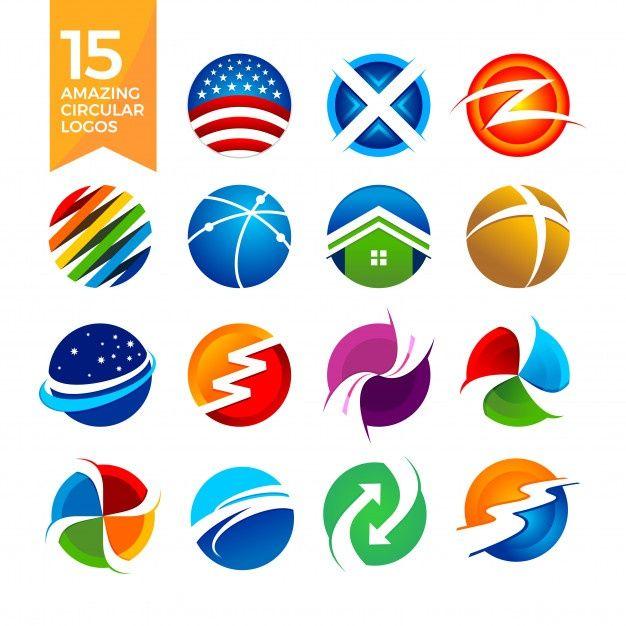 Logotipos De Formas Circulares Vector Pr Premium Vector Freepik Vector Logo Abstracto Icono Circulo Logotipos Logos De Colegios Insignias De Boda