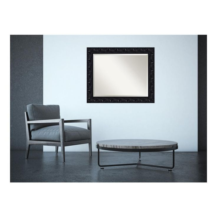 h contemporary framed mirror