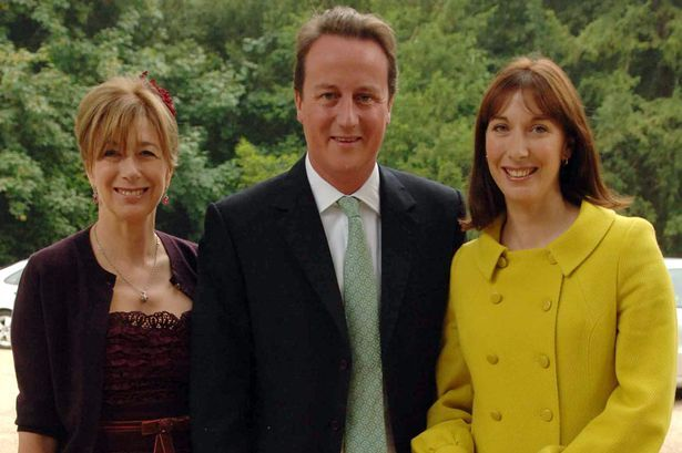 David Cameron's IN-LAWS have links with a string of tax havens .David Cameron, Tory leader and his wife Samantha Cameron, (sister of the Bride) with her mother Annabel Astor, Viscountess Astor