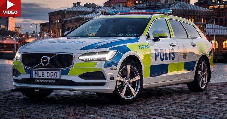 New Volvo V90 Reporting In For Police Duty In Sweden #New_Cars #Police_Cars