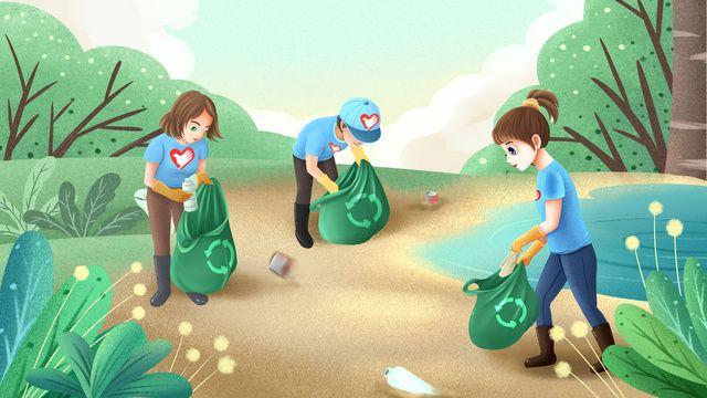 متطوع شباب متطوع يوم ينظف القمامة الحماية البيئة أشعة الشمس صورة توضيحية على Pngtree غير محفوظة الحقوق Girl Iphone Wallpaper Save Earth Volunteer