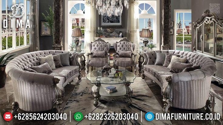 Konsep Ruang Tamu Mewah Sofa Tamu Ukiran Jepara Artistik Luxury Classic Mmj 0640 Royal Furniture Silver Furniture Sofa Set