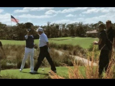 Donald Trump TROLLS Globalist Media At His Golf Resort & They Lose It! - YouTube