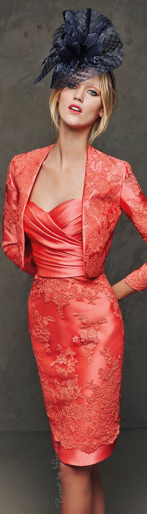 Pronovias 2016 coral suit  women fashion outfit clothing style apparel @roressclothes closet ideas