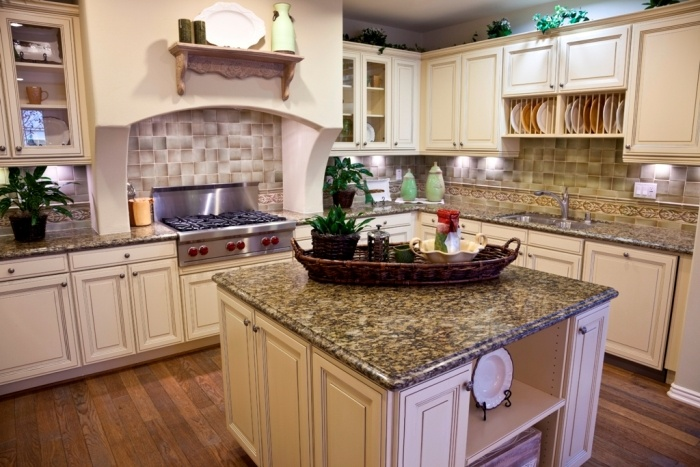 Light Washed Cabinets Instead Of Natural Wood Santa