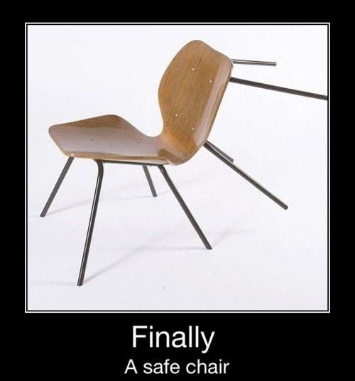 Eindelijk! De perfecte stoel voor in de klas ;-)