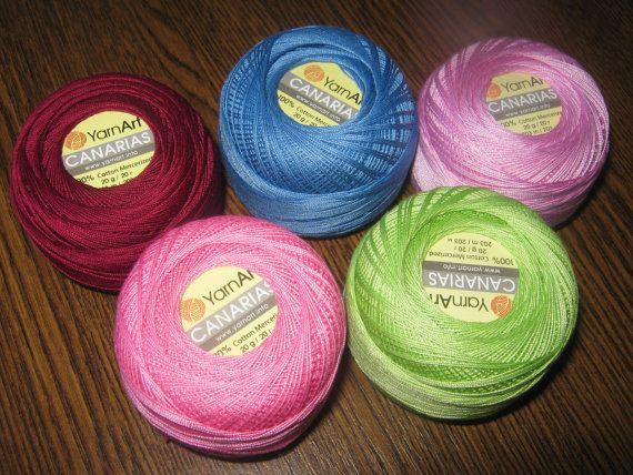 Crochet yarn Canarias, cotton yarn, lace yarn, crochet thread, mercerized cotton, yarn art, summer yarn, yarn for sale, cotton yarn online,