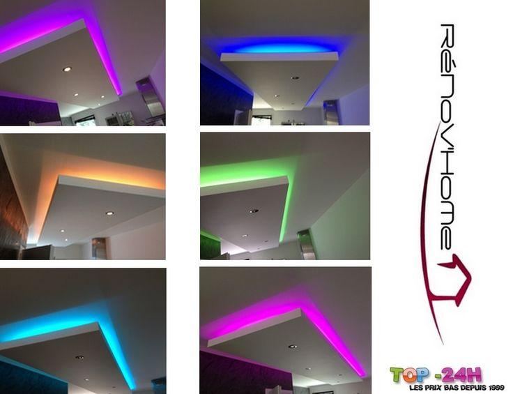 Ruban LED Multicolor RGB Avec Télécommande, Étanche