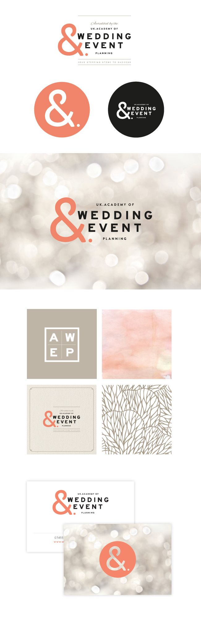 Academy of event wedding  event planning brand identity