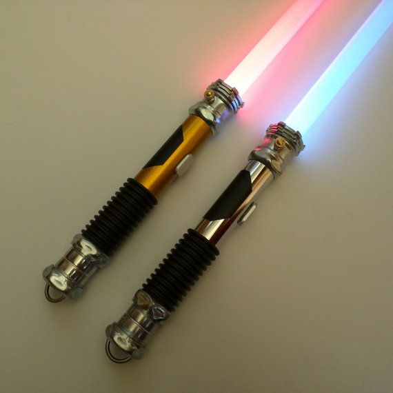 Dueling Lightsaber Hilt With Light by SaltLakeSaberCo on Etsy