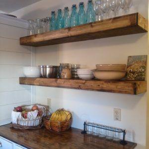 Sturdy Kitchen Floating Shelves