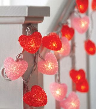 Set of 2 Heart-Shaped String Lights - modern - holiday decorations - HearthSong