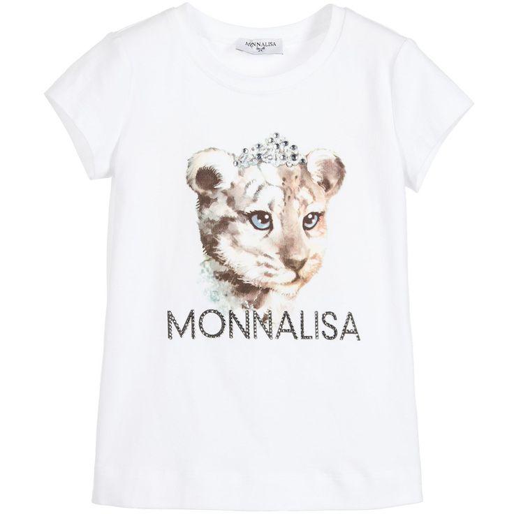 Monnalisa Girls Lion Cub T-Shirt at Childrensalon.com