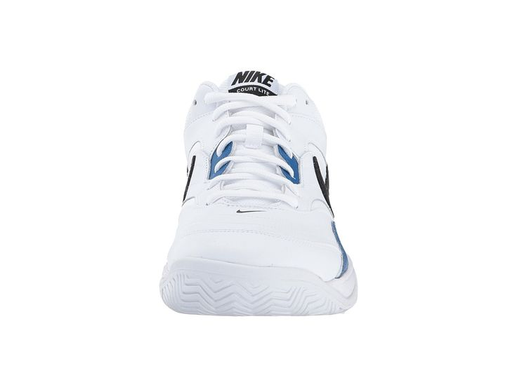 Nike Court Lite Men\u0027s Tennis Shoes White/Black/Blue Jay