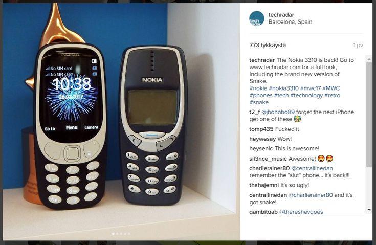 Nokian+klassikkopuhelin+3310+teki+paluun+–+mukana+myös+legendaarinen+matopeli