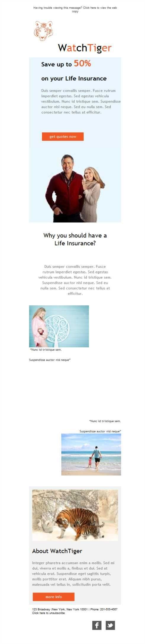 Mejores 12 imágenes de Seguros de Vida - Plantillas Newsletter en ...