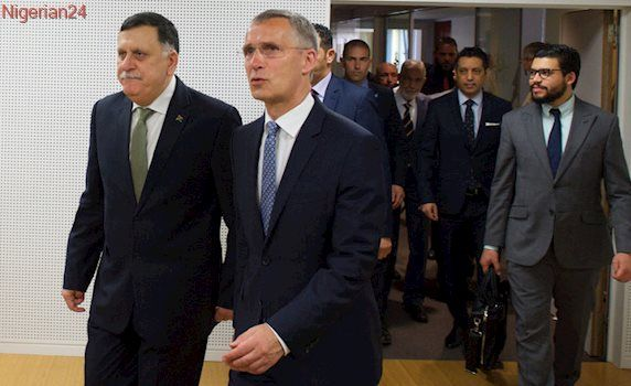 Jens Stoltenberg made the remarks after meeting with Libyan Prime Minister Fayez al-Sarraj.