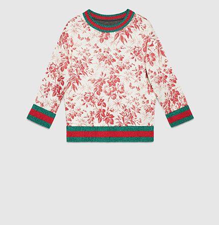 Gucci - sweatshirt en jersey feutré avec imprimé herbarium 410632X57746204