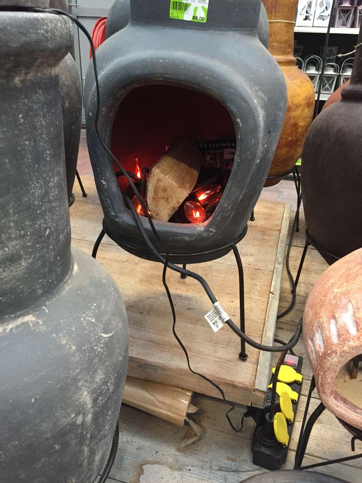 Nep vuur voor openhaard