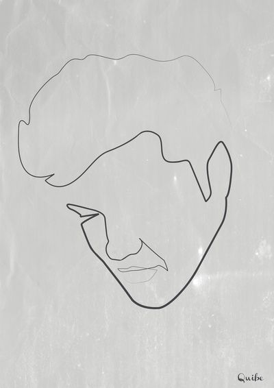Elvis. One Line Art by Quibe (Christophe Louis). Amazing.