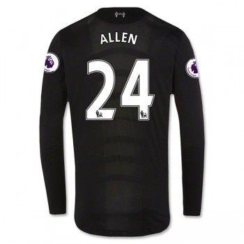 Liverpool 16-17 Joe Allen 24 Bortatröja Långärmad  #Fotbollströjor