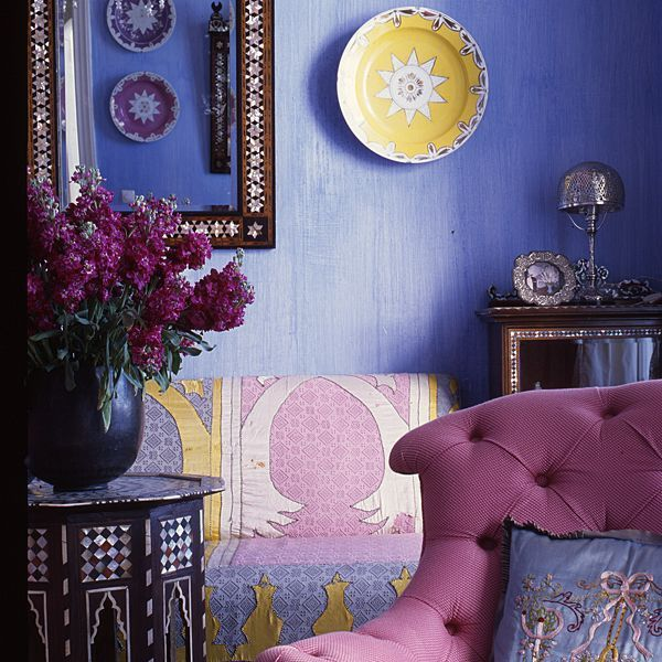 Alberto Pinto - Interior Designs - Riad in Tanger. love the color scheme