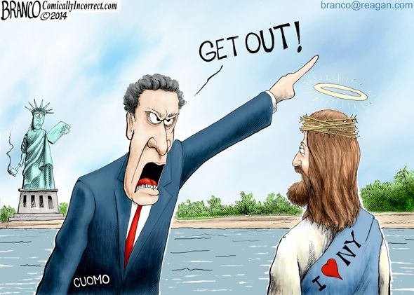 Remember when Governor Andrew Cuomo told America that conservatives, and Christians were not welcome in New York? We do.