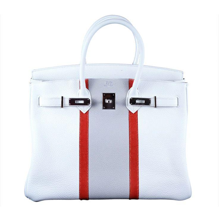 replica hermes evelyne bag - Limited Edition Hermes Birkin Bag White Club 35Cm Tri Color ...