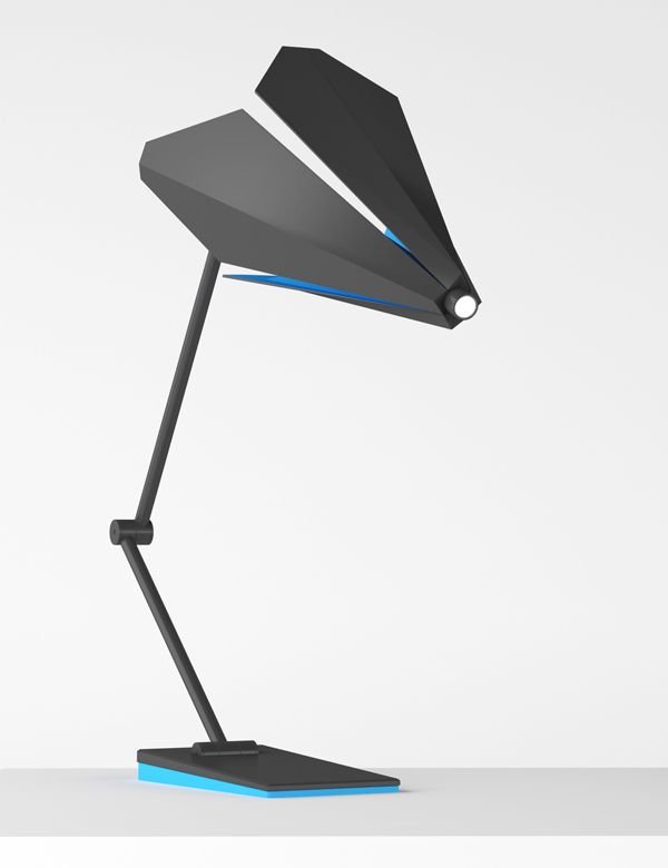 Unlike most desk lamp designs with shades that open in the direction of the light, the Flower Barb features a combination of sleek plates