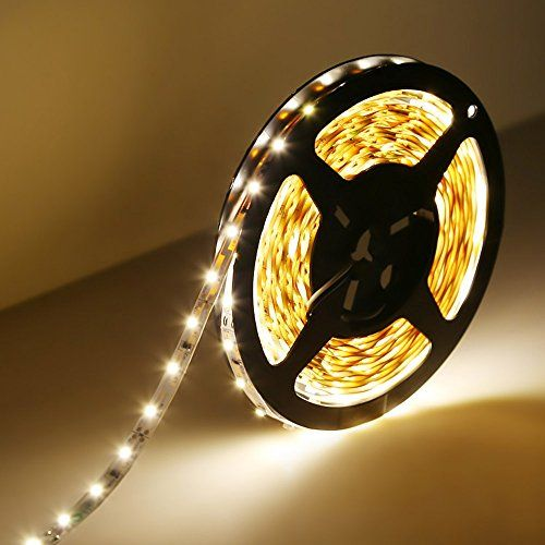 LE® 16.4ft/5m Flexible LED Strip Lights, 300 Units SMD 3528 LEDs, 12 V DC LED Light Strips, 3000K Warm White, 91 Lumens/ft, 1.5 watts/ft, Non-waterproof, LED Tape For Gardens/Homes/Kitchen/Cars/Bar Lighting EVER http://www.amazon.com/dp/B00HSF64JG/ref=cm_sw_r_pi_dp_C13dxb0ZFQZF8